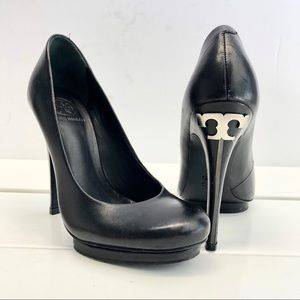 Tory Burch Leather Jude Platform Heels Size 7